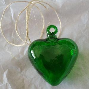 Glass Green Heart 💚 Decoration